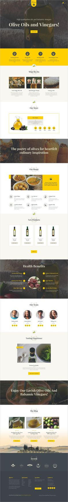 Luciana is a wonderful minimal design responsive #WordPress theme for #olive oil, vinegar #production company or #agriculture farms websites download now➩ https://themeforest.net/item/olive-oil-and-vinegars-production-wordpress-theme/17100820?ref=Datasata
