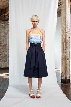 Whit Black Midi Skirt