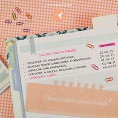 Utilize a página Make it happen para organizar aqueles desejos pessoais que quer realizar. Sonho no papel se torna real! Portanto comece agora… escreva no seu My Planner tudo aquilo que você fará acontecer e bon voyage! Determine datas para as ações no seu My Planner! Assim haverá tempo para você cumprir cada uma delas. Destaque com cor os principais pontos!