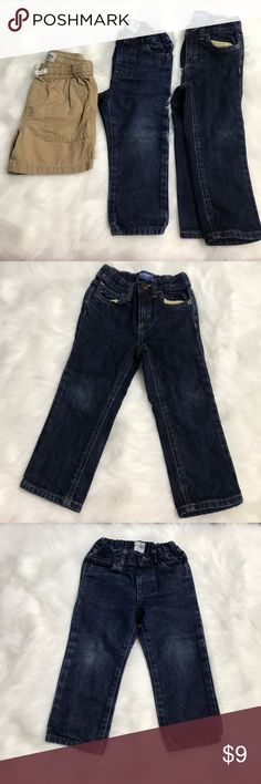 Boys Toddler Lot Of 3 Jeans and shorts 18/24M-2T Boys toddle lot of 3- 2 Jeans Old Navy 2T and Children's Place 18-24Months and 1 Tan shorts Children's Place 18-24Months - great condition - FAST SHIPPING!!! - smoke/pet free home Children's Place Bottoms Jeans