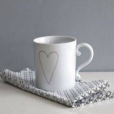 west elm heart mug