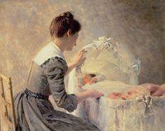 Motherhood, by Louis-Emile Adan