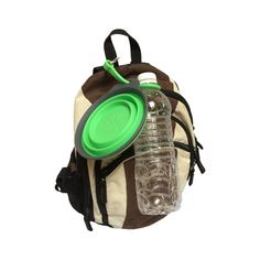 Perfect for a day out with your dog. Collapsible bowl with a bottle holder and clip. You can use them together or separate them and carry the bowl in your back pocket if you don't have a bag, or clip the whole thing to your belt loop. Makes getting out on a hike or to the dog park a breeze!
