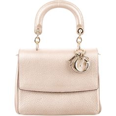 Pre-owned Christian Dior Mini Be Dior Bag (8.090 RON) ❤ liked on Polyvore featuring bags, handbags, metallic, pink handbags, mini purse, metallic leather handbags, pink leather purse and genuine leather handbags