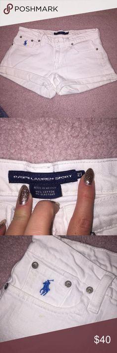 Ralph Lauren shorts Ralph Lauren Sport white jean shorts - size 27. Hardly worn! Ralph Lauren Shorts Jean Shorts
