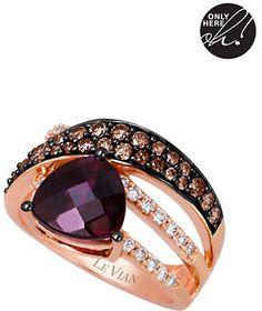 LeVian Kt. Strawberry Gold Rhodolite Diamond Ring on shopstyle.com