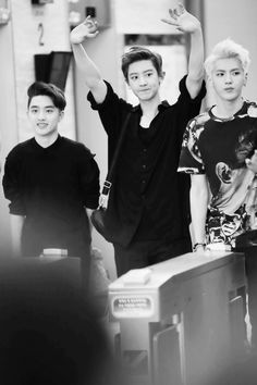 D.O, Chanyeol, and Kris