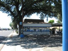 Merced, California.  Used to be A & W Root Beer Stand.  Many a root beer float was had after band concerts and baseball games.
