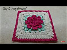 CROCHET How To #Crochet Rose Flower Granny Square Revised in HD #TUTORIAL #303 supersaver - YouTube