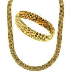 Tiffany & Co. Weave  Bracelet & Necklace  Set