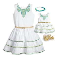 Lea's Celebration Outfit for 18-inch Dolls & Girls | clothinggoty | American Girl