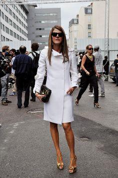 Anna Dello Russo, White Coat