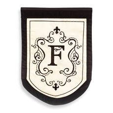 Monogrammed Fleur Outdoor Flag - F - Bed Bath & Beyond