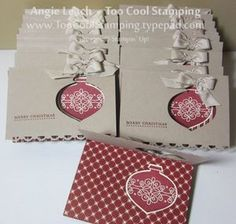 Ornament gift card holder popup
