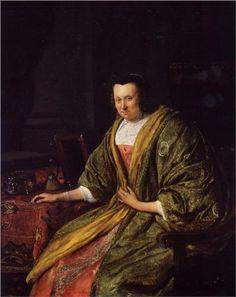 Jan Havickszoon Steen (Leiden 1626 – Leiden 1679)  Portrait of Geertruy Gael, Second Wife of Gerrit Gerritsz Schouten