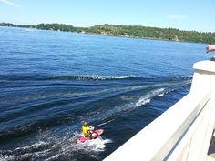 My nephew Dane Galler water skiing