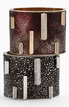 Vince Camuto Leather Hinged Bangle available at #Nordstrom