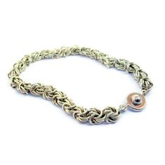 Chainmaille bracelet Rosetta weave #Vintage #Collectible