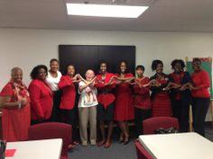 Joan and her Sorors of Delta Sigma Theta, Inc. in Salt Lake City, UT.