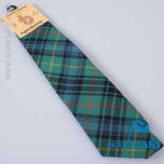 Pure wool tie in Stewart Hunting Ancient tartan  - from ScotClans