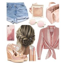 """""""Saint Tropez!"""" by lenaaa12 ❤ liked on Polyvore featuring River Island, Levi's, Jimmy Choo and Corto Moltedo"""
