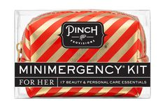Candy Striper Minimergency Kit by Pinch Provisions | Beauty, Fashion, & Personal Care Kit with 17 Emergency Essentials