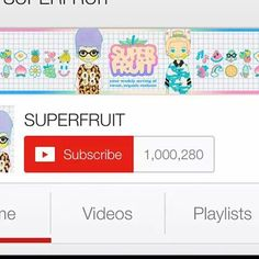 One Million Superfruit subscribers!