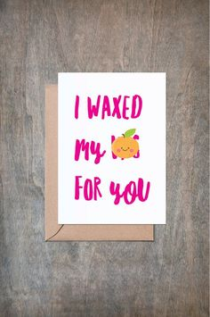 Items similar to I Waxed My Vag for You. on Etsy Birthday Cards For Boyfriend, Birthday Cards For Men, Husband Birthday, Funny Birthday Cards, Happy Anniversary Cards, Anniversary Funny, Valentines Day Greetings, Funny Valentine, Steak And Blow