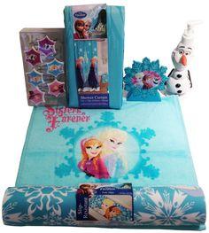 28pc complete frozen anna+elsa bathroom set shower curtain+towels+