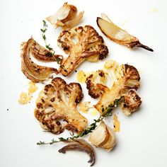Roast cauliflower with parmesan cheese
