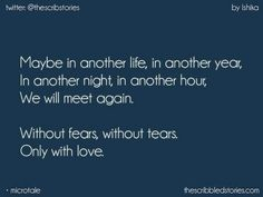 Maybe.... Seeyou till den ... I will wait for you ♥