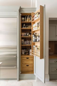 Pantry Cupboards Kitchen Larder Cupboards, Pantries and Units – Tom Howley - Own Kitchen Pantry Benchmarx Kitchen, Kitchen Larder Cupboard, Home Decor Kitchen, Larder Unit, Kitchen Cupboard Designs, Pantry Design, Kitchen Design, Kitchen Organization, Kitchen Storage