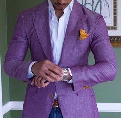 Purple Men's Linen Suits Summer Beach Jacket With Pant Wedding Tuxedos Groomsman Costume En Lin, Mode Costume, Linen Sport Coat, Linen Blazer, Mens Sport Coat, Linen Suits For Men, Mens Suits, Teaching Mens Fashion, La Mode Masculine