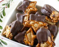 Peanut butter chocolate dipped pretzels