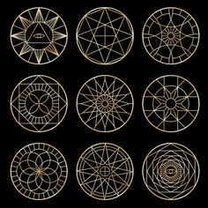 Discover thousands of Premium vectors available in AI and EPS formats Sacred Geometry Patterns, Geometric Symbols, Sacred Geometry Tattoo, Mystic Symbols, Esoteric Art, Geometric Drawing, Magic Circle, Sacred Art, Free Vector Art