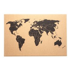 Travel addicts will adore using the included pushpins to mark our world map corkboard decor with all the places they've been or dream of exploring. Easy Home Decor, Handmade Home Decor, Home Decor Bedroom, Design Bedroom, Corkboard Decor, Corkboard Ideas, Unique Picture Frames, Best Kitchen Designs, Vintage Wall Art