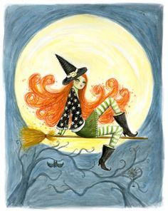 witch  art by Bella Pilar