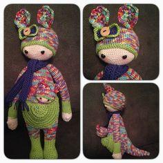 KIRA the kangaroo made by Daniela M. / crochet pattern by lalylala