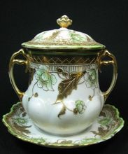 Heavily Gilt Decorated Nippon Condensed Milk Holder