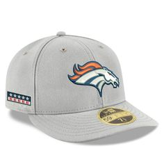 new arrival ed7df b8283 Men s Denver Broncos New Era Gray Crafted in the USA Low Profile 59FIFTY  Fitted Hat, Your Price   39.99
