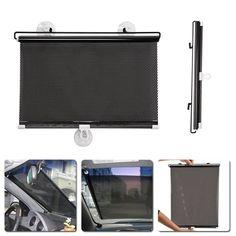 1a63b6527c8 R1B1 1PC 40cm 60cm Auto Retractable Side Window Car Sun Shade Curtain Windshield  Sunshade Shield