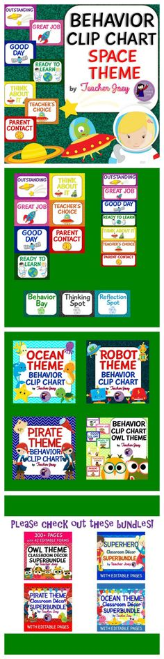 Behavior Chart Behavior Chart Behavior Clip Chart Space Theme Glitter  This behavior clip chart will surely match your Space-Themed classroom!  This behavior clip chart is designed with glitter background and adorable heavenly bodies!
