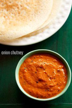 onion chutney recipe, how to make onion chutney recipe for idli, dosa
