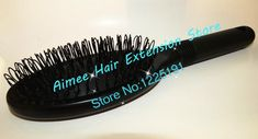 2pcs Black Plastic loop comb for hair extensions professional easy  brush wavy hair salon tools princess kate's secret