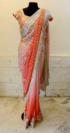 Gorgeous Ombre Saree by Arpita Mehta on her Site http://arpitamehta.in/