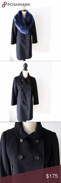J Crew • Wool Peacoat Coat Gently loved! J Crew double breasted 100% wool coat. No flaws!  ❌No trades ❌Poshmark Transactions Only ❌No asking for the lowest price J. Crew Jackets & Coats Pea Coats
