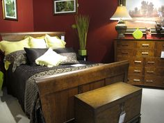This solid cherry, sustainably harvested handmade bedroom set by Simply Amish will become a family heirloom.  On the floor now, at Samuel's Furniture.