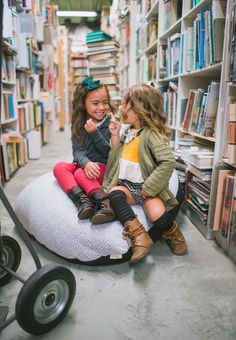 having a giggle with your bestie on this big comfy bean bag chair Kids C, Children, Bag Chairs, Kids Decor, Kids Furniture, Playroom, Nursery Decor, Besties, Bean Bag Chair