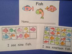 This reader is great for guided reading groups, homework, or literacy center activities. It also includes math standards with a ten frame on each page with a matching number of fish.$