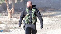 """Abu Azrael also known as the """"Angel of Death"""", is a commander of the Kataib al-Imam Ali, an Iraqi Shi'a militia group of the Popular Mobilization Forces that is fighting ISIL (Islamic State of Iraq. Who Are The Archangels, Abu Azrael, Muslim Men, Imam Ali, Angel Of Death, North Africa, Embedded Image Permalink, The Man, Hero"""
